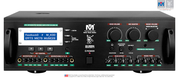 Better Music Builder DX-288 G3 900W CPU INTEGRATED MIXING AMPLIFIER