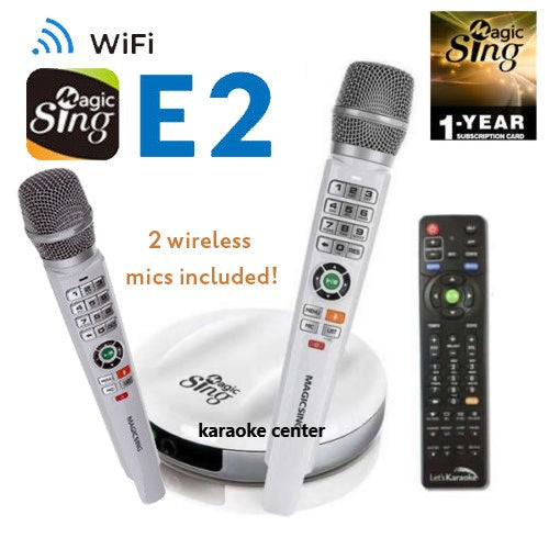 EnterMedia Magic Sing E2 -2 MICs Package, WiFi Streaming Karaoke Mic