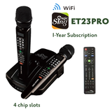ENTERMEDIA MAGIC SING ET23PRO WIFI STREAMING KARAOKE MIC with 4 chip slots