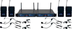 Vocopro UDH-PLAY-4 4-CH. UHF/DSP Hybrid Bodypack Wireless Microphone System
