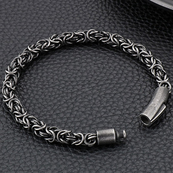 Braided Stainless Steel Chain Bracelet