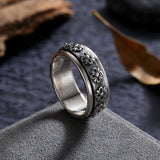 Gothic Flower - 925 Sterling Silver Ring