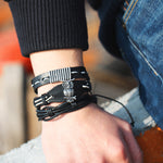 Load image into Gallery viewer, Handmade Multi-layer Punk Bracelet