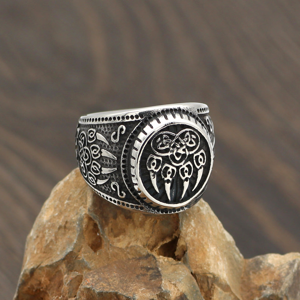 Wolf Paw Stainless Steel Ring