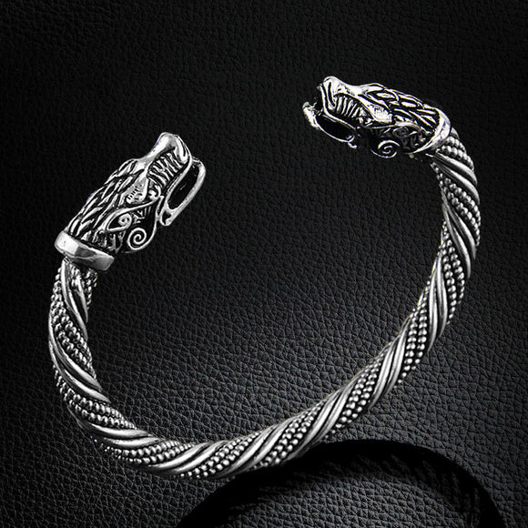 Double Dragon-Head Bracelet