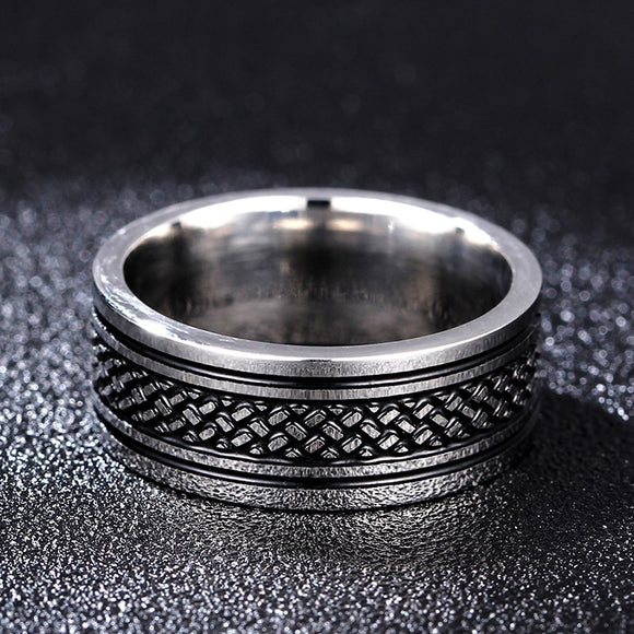 Tibetan Stainless Steel Ring