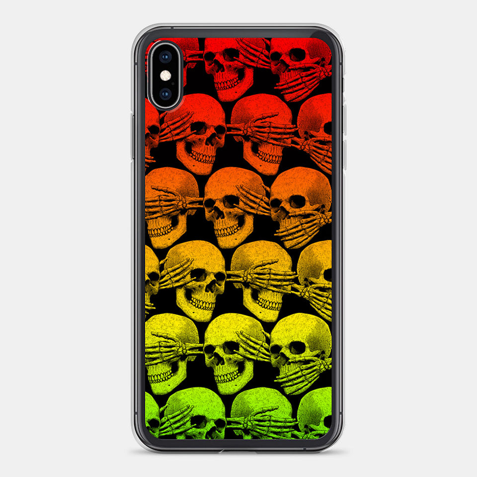 Didn't See, Hear or Say Shit iPhone Case (Rasta Version)