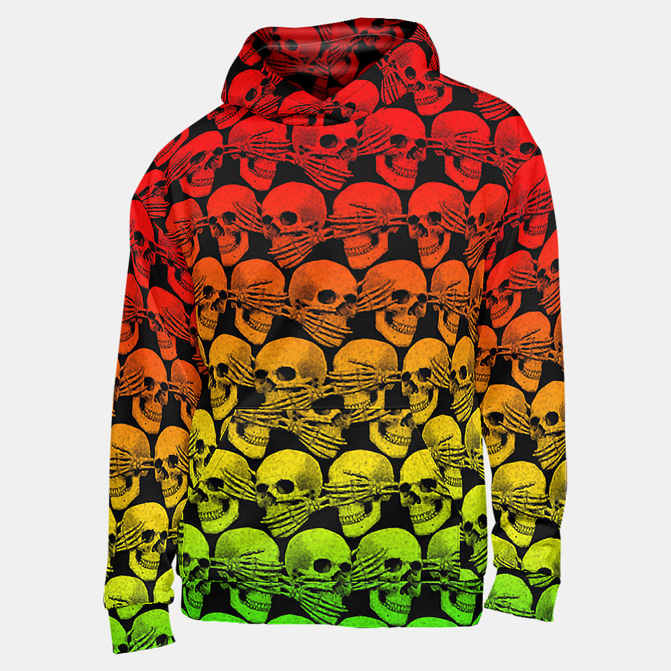 Didn't See, Hear or Say Shit Hoodie (Rasta Version)