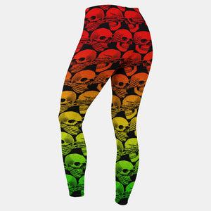 Didn't See, Hear or Say Shit Leggings (Rasta Version)