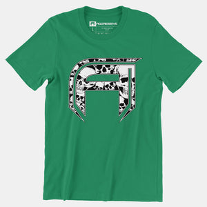 The Aggressive - Skully Tee Green