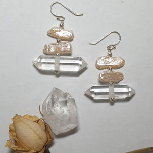 Double Terminated Quartz drops