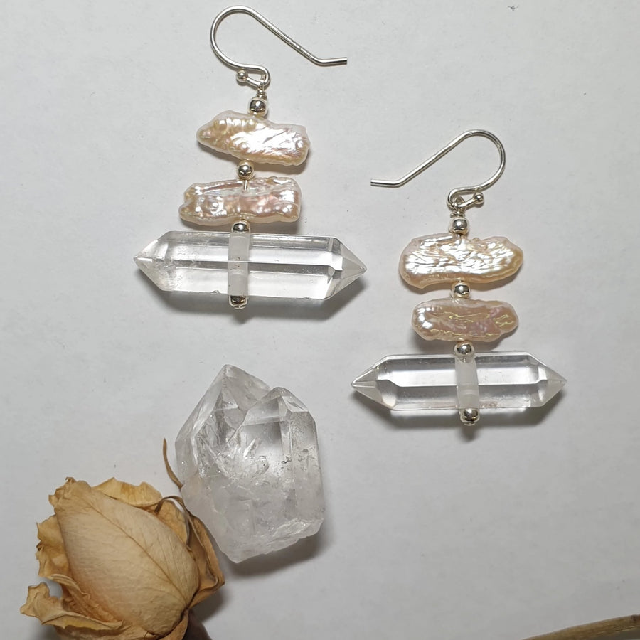 Double Terminated Quartz Dangles