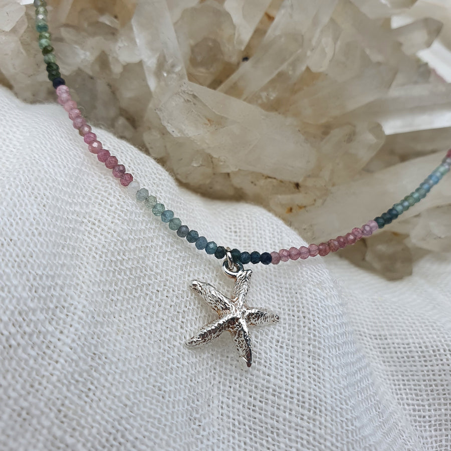 Tourmaline and Starfish Necklace