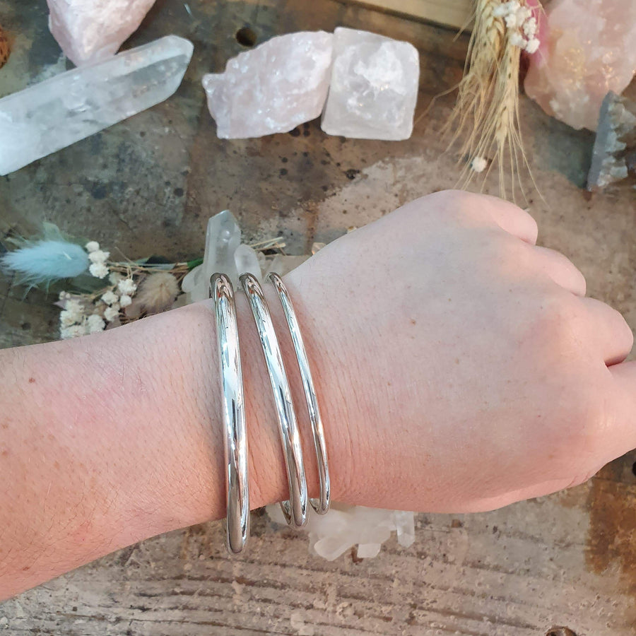 Solid Sterling Silver Bangles Assorted