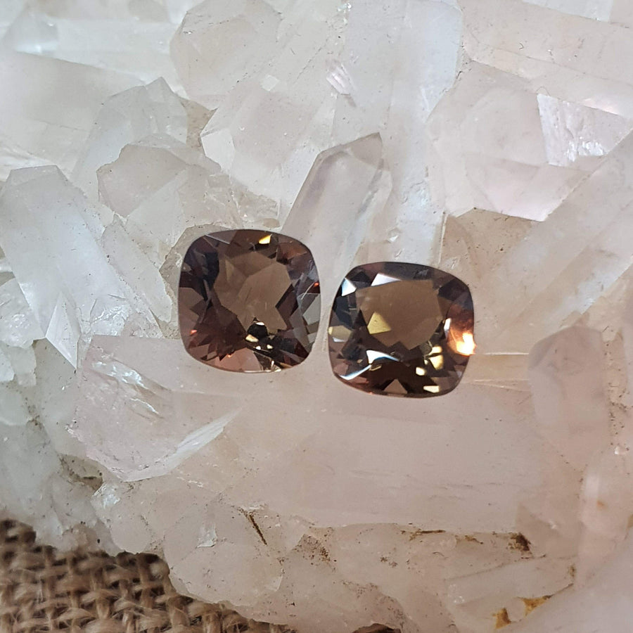 Smokey Quartz Pair