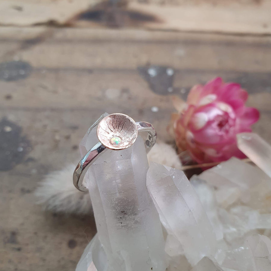 Rose Gold Cup & Opal Ring