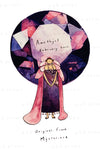 February: Amethyst Birthstone Card