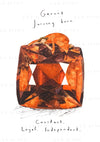 January: Garnet Birthstone Card