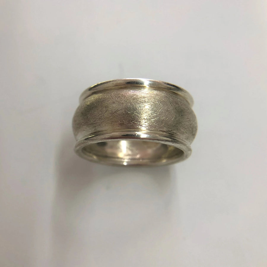 Sterling Silver Engraved Mens Ring