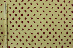 Dark Red Stars with Light Brown Background