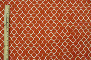 Moroccan Tile, White with Orange
