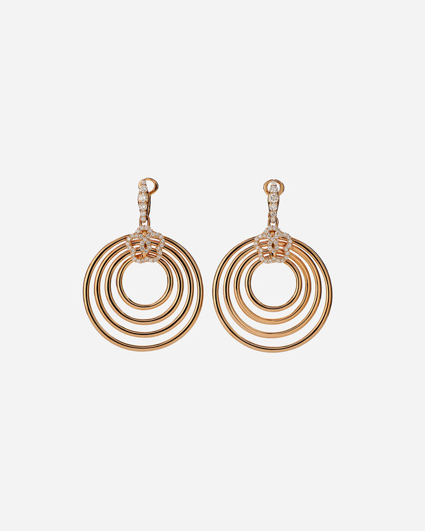 Pink Gold and Diamond Earrings