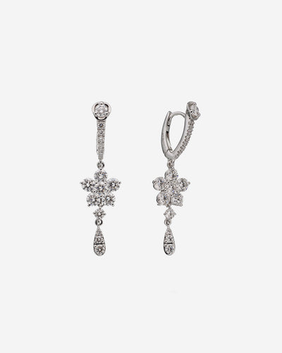 White Gold and Diamond Earring
