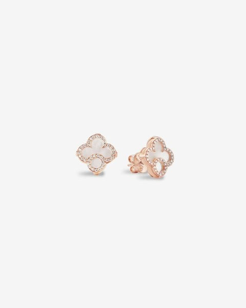 Pink Gold, Diamond and Nacre Earrings