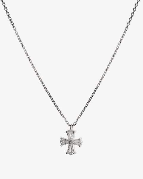Diamonds Necklace and White Cross