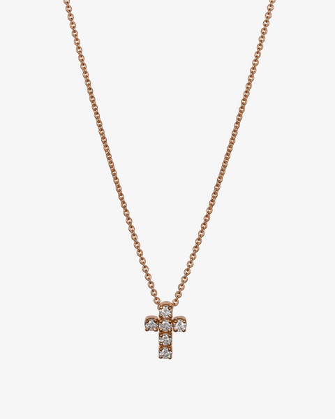 Diamonds Necklace with a Cross