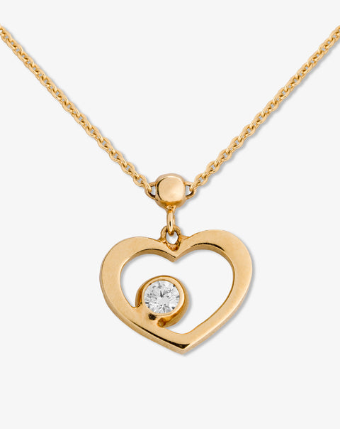 Necklace with Heart and Diamond