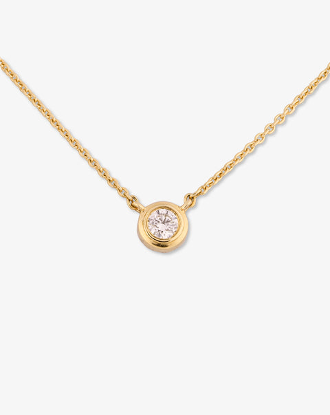 Gold Necklace with Solitaire Diamond