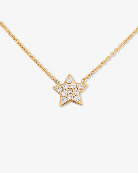 Necklace with Star and Diamonds