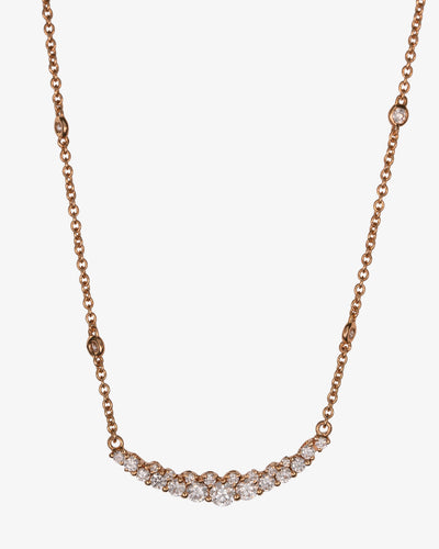 Golden Necklace with Diamonds