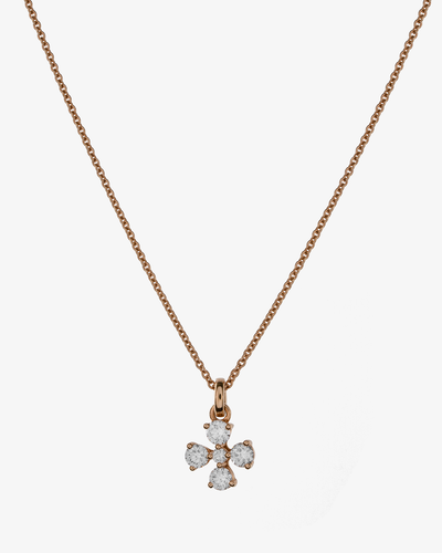 Diamonds Necklace and Golden Cross