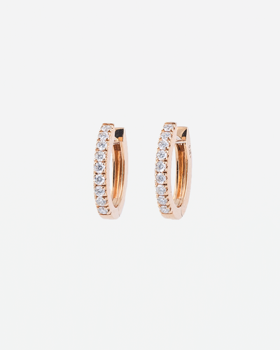 Rose Gold and Diamond Earrings II