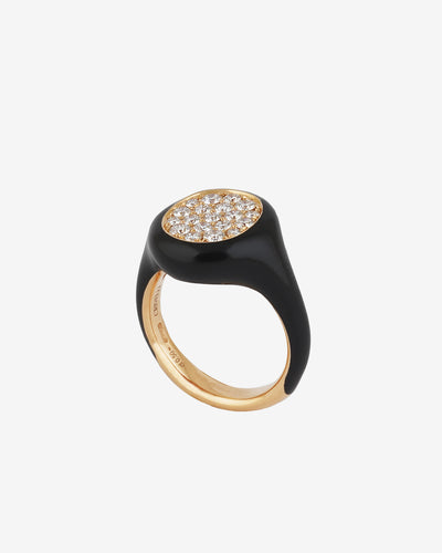 Black and Gold Diamond Ring