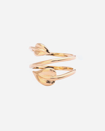 Yellow Gold Leaf Ring II