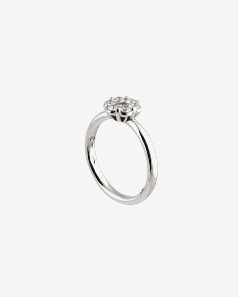 White Gold and Diamonds Ring XI