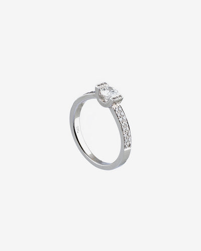 White Gold Diamond Ring VIII