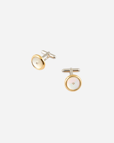 Madre Perola and Diamonds Cufflinks