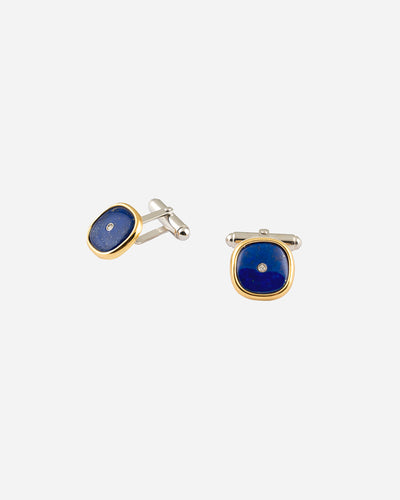Lapis Lazuli and Diamonds Cufflinks