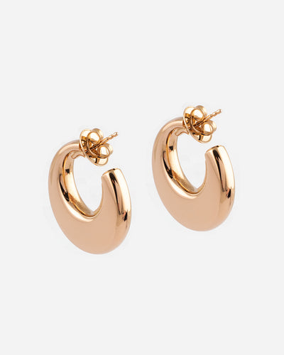 Gold Pink Earrings