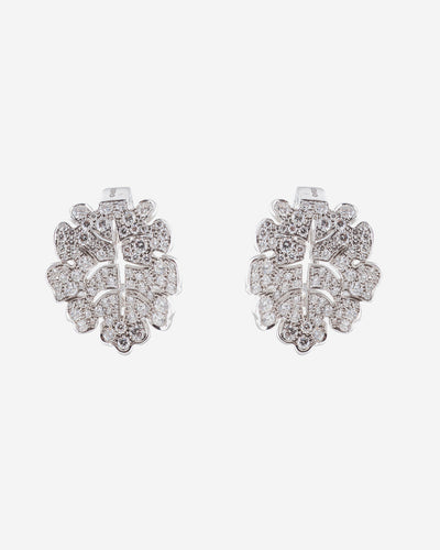 White Gold and Diamonds Earring
