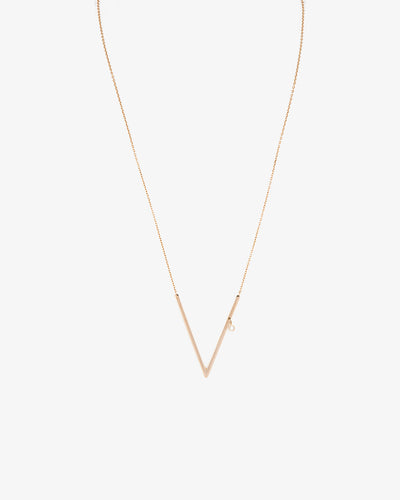 Yellow Gold V Necklace I