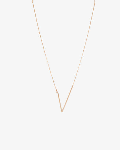 Yellow Gold V Necklace II
