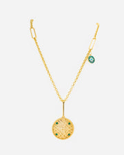 Silver Gold Plated Medallion Necklace