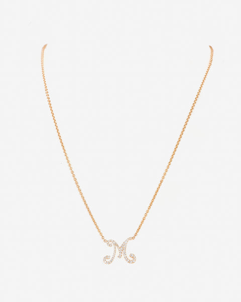 Necklace Letter M