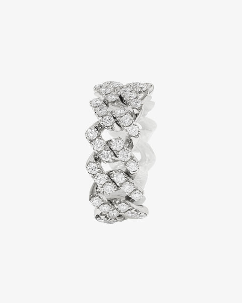 White Gold Diamond Chain Ring
