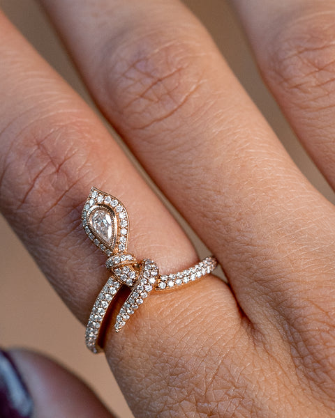 Rose Gold and Diamonds snake Ring